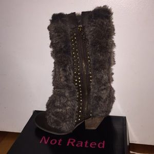 Not Rated Fur Boots